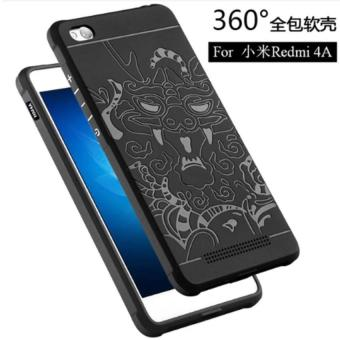Case Cool 3D Dragon and Sharp Blade fundas capa Shockproof Hybrid SoftCase for Xiaomi Redmi 4A / Redmi 4A Prime - Hitam
