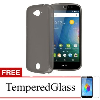 Case for Acer Z520 - Abu-abu + Gratis Tempered Glass - Ultra Thin Soft Case