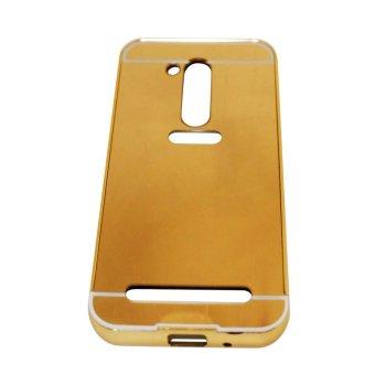 Case For Asus Zenfone Go 4.5 inch 2016 ZB452KG Alumunium Bumper With Sleding Mirror - Gold