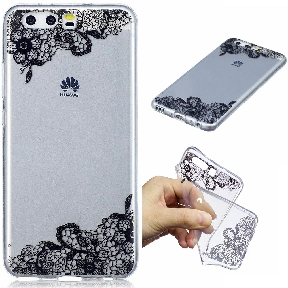 Hot Deals Case untuk Huawei P10 Ultra Tipis Jelas Lembut Tpu Telepon Kembali Case (Warna