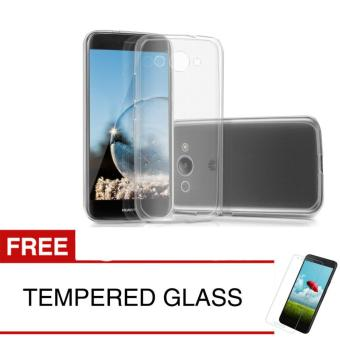 Case for Huawei Y3 2017 - Clear + Gratis Tempered Glass - Ultra Thin Soft Case