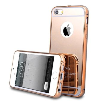 Case For Iphone 5 / 5S / 5SE Bumper Chrome With Backcase Mirror Slide - Rose