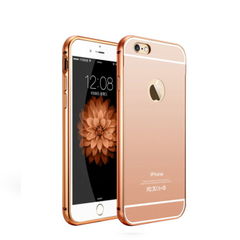 Case For Iphone 6 Bumper Chrome With Backcase Mirror Slide - Rose Gold