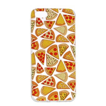 Case for iPhone SE 5SE 5 5S Slim Fit Soft TPU Back Case Cover (Pizza) - intl