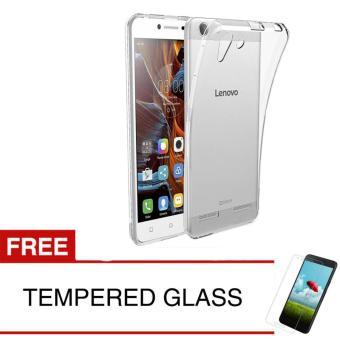 Case for Lenovo Vibe K5 Plus - Clear + Gratis Tempered Glass - Ultra Thin Soft