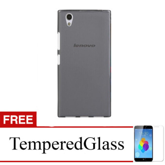 Case for Lenovo S850 - Abu-abu + Gratis Tempered Glass - Ultra Thin Soft