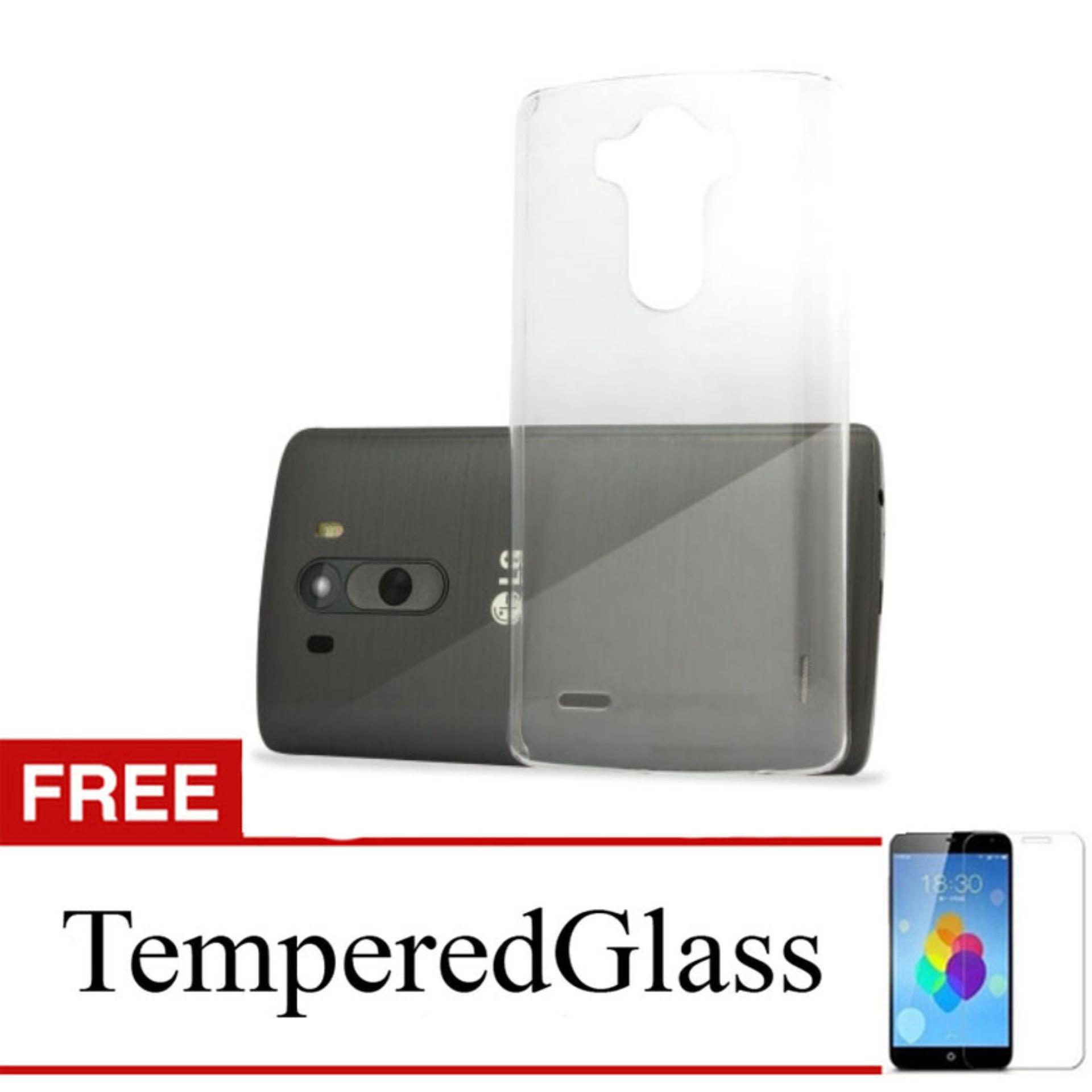 Case for LG V10 - Clear + Gratis Tempered Glass - Ultra Thin Soft Case