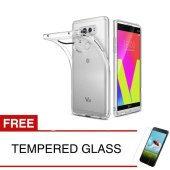 Case for LG V20  - Clear + Gratis Tempered Glass - Ultra Thin Soft Case