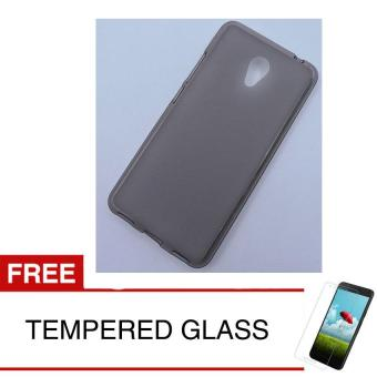 Case for Meizu M5C - Abu-abu + Gratis Tempered Glass - Ultra Thin Soft Case