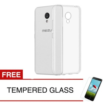 Case for Meizu M5C - Clear + Gratis Tempered Glass - Ultra Thin Soft Case