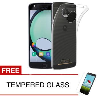 Case for Motorola Moto C 2017 - Clear + Gratis Tempered Glass - Ultra Thin Soft Case
