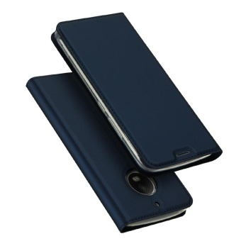 Case for Motorola Moto E4 Slim Book Design Magnetic Stand Cover(Navy Blue) - intl
