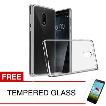 Case for Nokia 2 2018 - Clear + Gratis Tempered Glass - Ultra Thin Soft Case