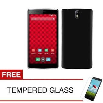 Case for OnePlus One - Slim Black Matte Hardcase + Gratis Tempered Glass