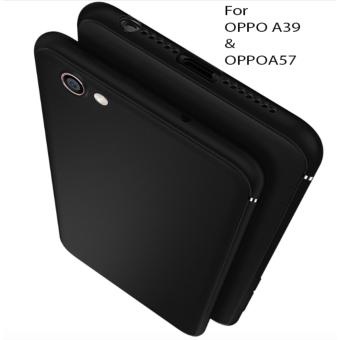 Case For OPPO A39 / OPPO A57 UltraSlim Premium Shockproof Hybrid Full Cover Series- Hitam