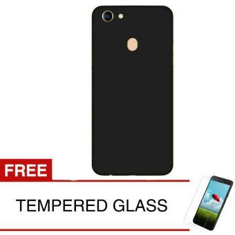 Case for Oppo F5 / F5 Youth - Slim Black Matte Hardcase + Gratis Tempered Glass