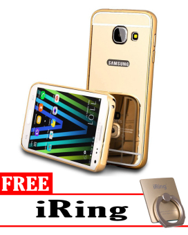 Case for Samsung Galaxy A3 2016 (A310) Aluminium Bumper With Mirror Backdoor Slide -