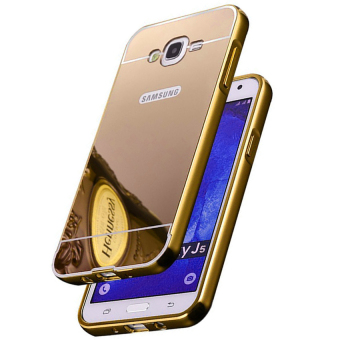 Case For Samsung Galaxy J1 / J100 Bumper Chrome With Backcase Mirror Elegant - Gold