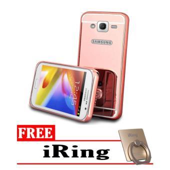 Case for Samsung Galaxy J5 2015 (J500) Aluminium Bumper With Mirror Backdoor Slide -