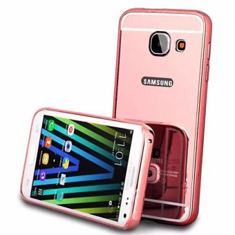 Case For Samsung Galaxy J7 Prime Bumper Slide Mirror - Rose Gold