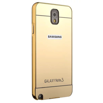 Case For Samsung Galaxy note 3 Bumper Chrome With Backcase Mirror - Gold