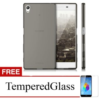 Case For Sony Xperia L / C2105 - Abu-abu + Gratis Tempered Glass - Ultra Thin Soft Case