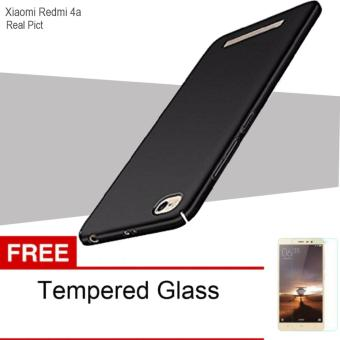 Case For Xiaomi Redmi 4a UltraSlim Original Shockproof Hybrid Full Cover Series- Hitam Free Tempered