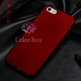 Case Mate Anti Fingerprint Hybrid Case Baby Skin Apple iPhone 5 Baby Soft Iphone Babby Skin iPhone 5s Hardcase Apple iPhone 5G/ casing iPhone 5 Casing iPhone5 - Red