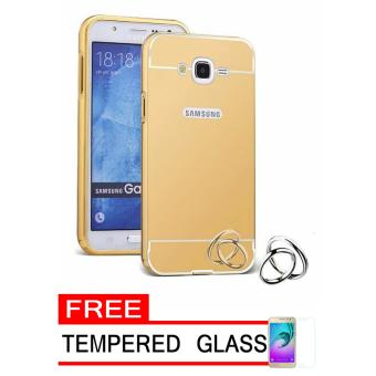 Case Metal for Samsung Galaxy J1 Mini Prime Aluminium Bumper With Mirror Backdoor Slide - Gold