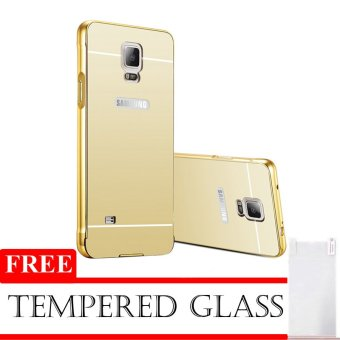 Case Mirror Aluminium Bumper With Mirror Slide For Samsung Galaxy Note 3 + Free Tempered Glass