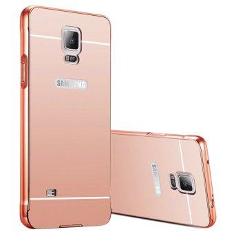 Case Mirror Aluminium Bumper With Mirror Slide For Samsung Galaxy Note 3 - Rose gold