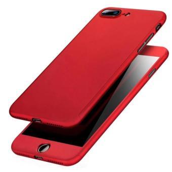 Case Protect 360 VIVO Y53 Front and Back FullCase Premium Tempered glass  Hita Merah  4459ed1c9b