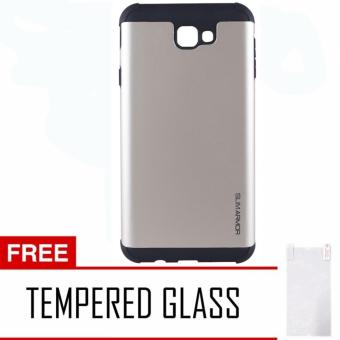 Case Samsung Galaxy J5 Prime Slim Armor Hybrid - Gold + Free Tempered Glass