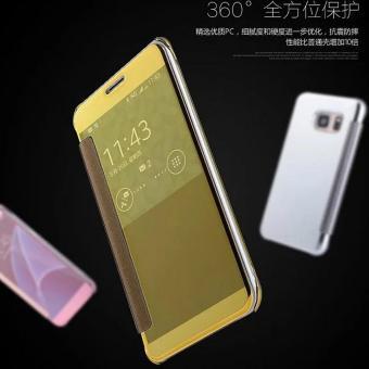 Shock Price Case Samsung Galaxy S7 Edge Flipcase Flip Mirror Cover S View Transparan Auto Lock