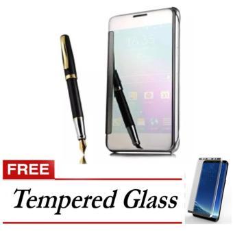 Case Samsung Galaxy S8 Plus Flipcase Flip Mirror Cover S View Transparan Auto Lock Casing Hp