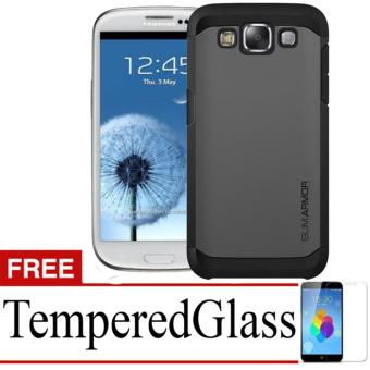 Case Slim Armor For Samsung Galaxy S3+ Free Temperedglass - Black