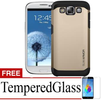 Case Slim Armor For Samsung Galaxy S3+ Free Temperedglass - Gold