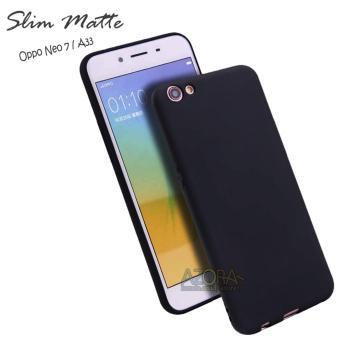 Case Slim Black Matte Oppo Neo 7 / A33 Baby Skin Softcase Ultra Thin Jelly Silikon