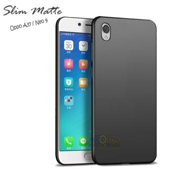 Case Slim Black Matte Oppo Neo 9 / A37 Baby Skin Softcase Ultra Thin Jelly Silikon