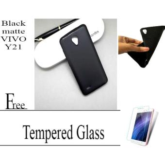 Case Slim Matte Vivo Y21 Free Tempered Glass Vivo Y21 Abenk_Shop