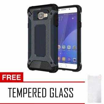 Case Tough Armor Carbon for Samsung Galaxy A5 2017 Series - Biru Dongker + Free Tempered