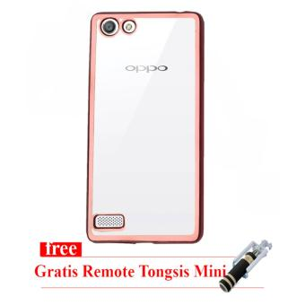 Case Ultrathin Shining Chrome for Oppo F1s / A59 - Rose gold - Tongsis Mini Selfie