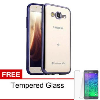 Case Ultrathin Shining Chrome Untuk Samsung Galaxy V / G313 - Black - Free Tempered Glass