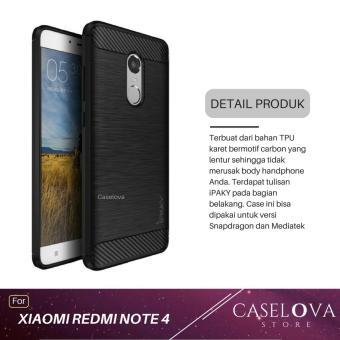 Caselova Premium Quality Carbon Shockproof Hybrid Case for Xiaomi Redmi Note 4 / Note 4X Versi