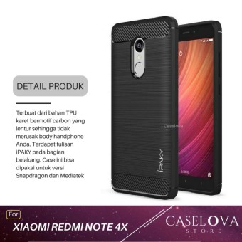 Caselova Premium Quality Carbon Shockproof Hybrid Case for Xiaomi Redmi Note 4X / Note 4 Versi