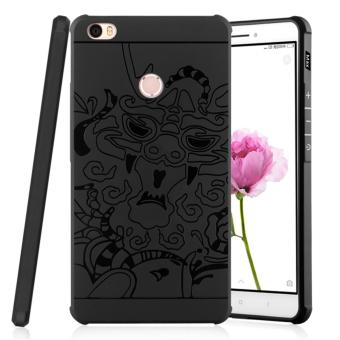 Casing Handphone Xiaomi Mi Max Softcase Dragon - Black