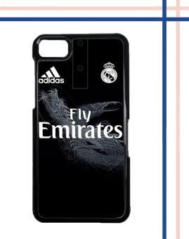 Casing HARDCASE Bergambar Motif Untuk BlackBerry BB Z10 Black Real Madrid Jersey O1012 Case .