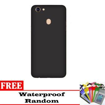 Casing Slim Black doff Matte Baby Skin for OPPO F5 / 4GB / 6GB + Free