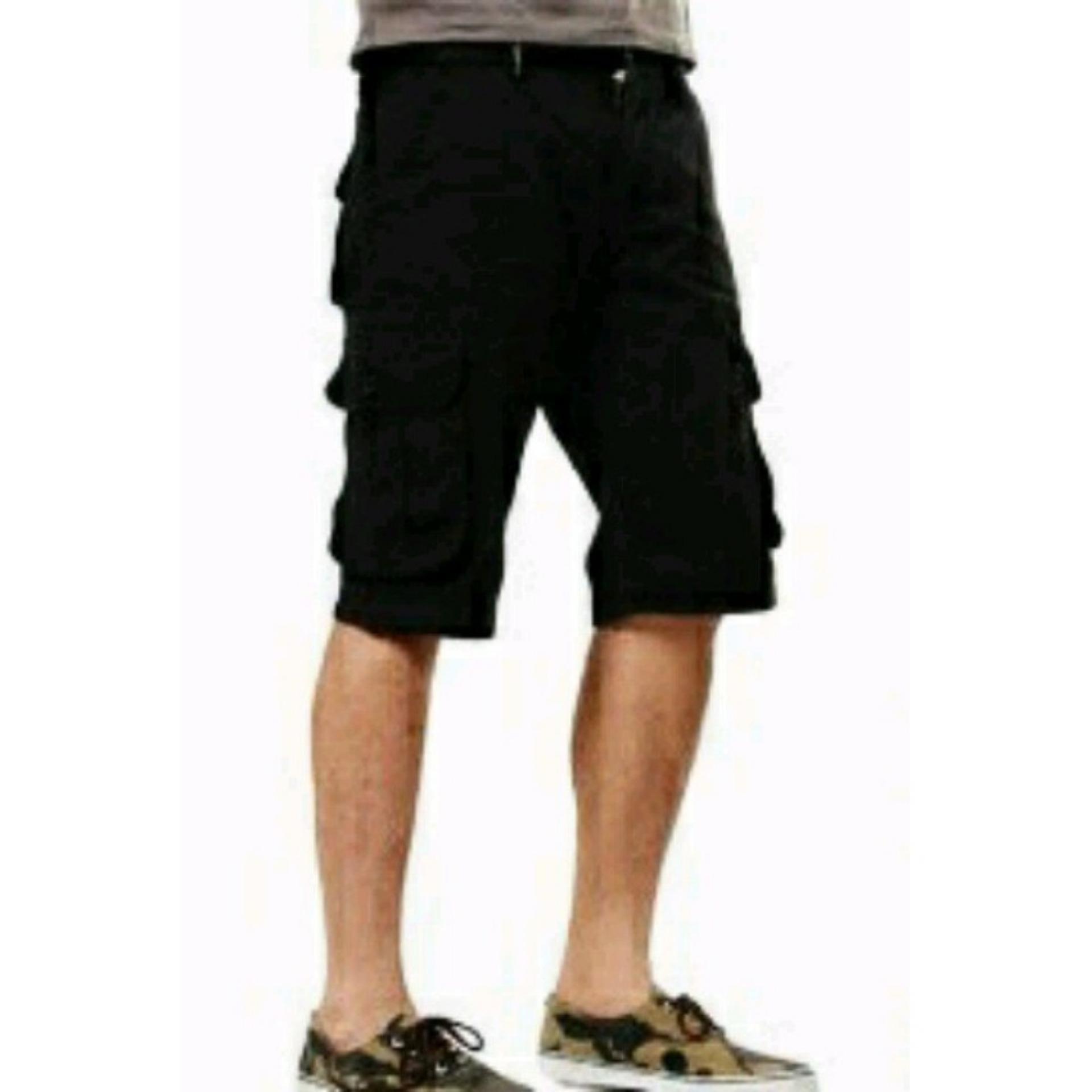 Cek Harga Baru Sleepwalking Celana Cargo Pria Pendek Bahan Premium Jeans Bioblitz Hitam