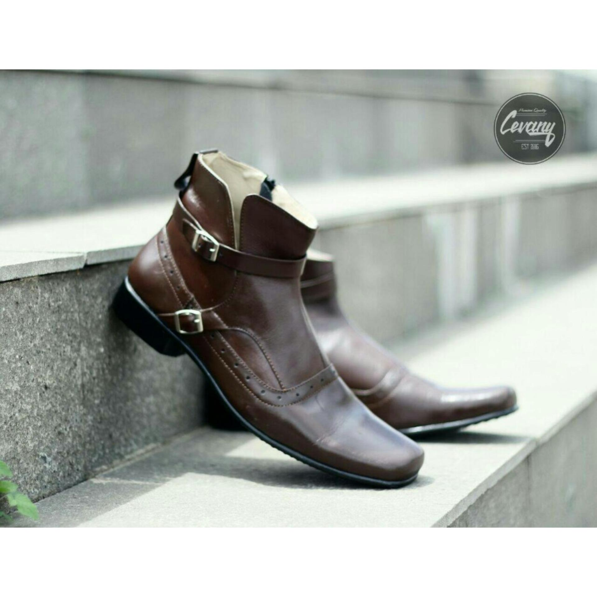Fitur Cevany Leather Shoes Man Formal Elegan Sepatu Pantofel Kulit Pantopel Veil Asli Orginal Premium Quality